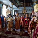 Председатель отдела сослужил Святейшему Патриарху Кириллу за Божественной литургией