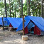 Палаточный школьный лагерь