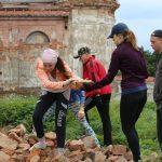 Студенты БелГУТ поработали волонтерами в Юровичском монастыре