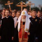 В сотую годовщину расстрела Царской семьи Святейший Патриарх Кирилл совершил Божественную Литургию и возглавил крестный ход
