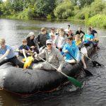 Шестьдесят человек приняли участие в слёте-сплаве православной молодёжи Борисовской епархии