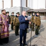 На фасаде здания Витебской духовной семинарии открыта мемориальная доска памяти патриотов Витебщины