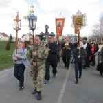 Крестный ход из Могилева в Белыничи сопровождал белый аист – символ Беларуси
