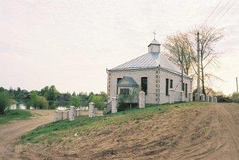 Пратэстанцкі храм у Ракаве. 2003 г. Фота Уладзіміра Багданава.