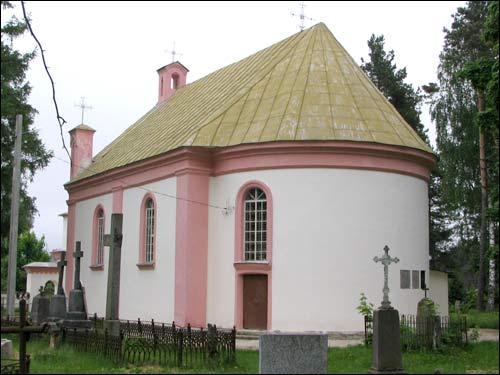 Выгляд касцёла Святой Ганны з боку апсіды. Фота Сяргея Кандратовіча.