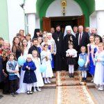 Патриарший Экзарх посетил православную гимназию при храме святой княгини Елисаветы г. Бобруйска