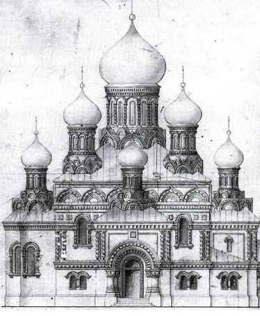 Праект храма Уваскрасення Хрыстовага. 70-я гады ХІХ ст.