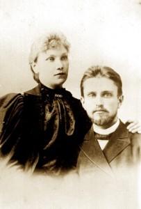 Уладзімір Хіраска з жонкай Марыяй Цітаўнай.