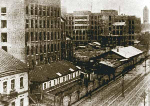 Будаўніцтва Дома ўрада. 1933 год.