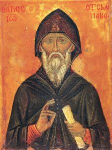Иоанн Лествичник. Уже в X веке почитался как святой. Частицы его мощей хранятся в греческих монастырях