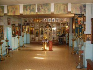 Унутранае ўбранства смалявіцкай царквы Свяціцеля Мікалая Цудатворца.