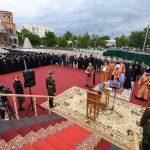 Митрополит Вениамин совершил чин на основание часовни-памятника в честь святого благоверного князя Александра Невского в Гомеле